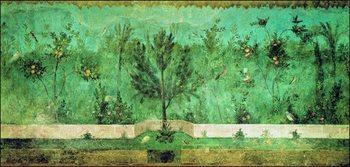 Anonimo - Parete Affrescata Con Giardino Festmény reprodukció