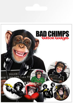 Ansteckerset BAD CHIMPS