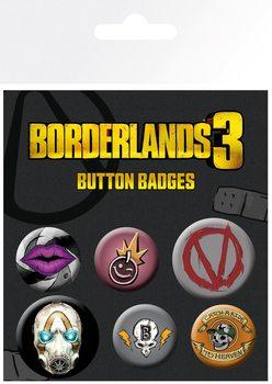 Ansteckerset Borderlands 3 - Icons