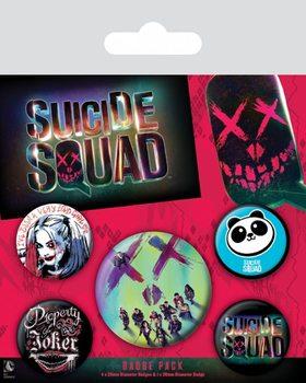 Ansteckerset Suicide Squad - Face