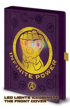Anteckningsbok Avengers: Infinity War - Gauntlet LED