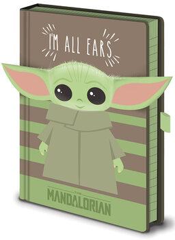 Anteckningsbok Star Wars: The Mandalorian - I'm All Ears Green