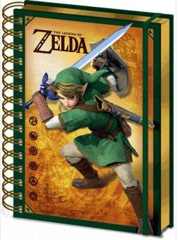 Anteckningsbok The Legend Of Zelda - Link