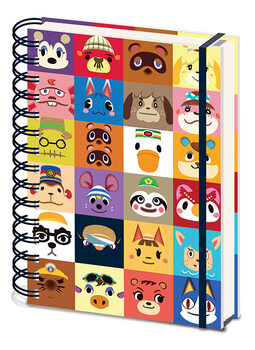 Anteckningsbok Animal Crossing - Villager Squares
