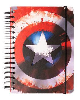 Anteckningsbok Marvel - Captain America