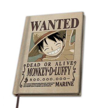Anteckningsbok One Piece - Wanted Luffy
