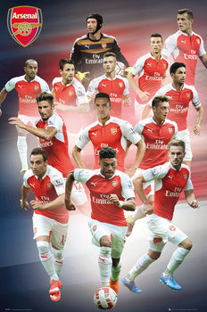 Arsenal FC - Players 15/16 - плакат (poster)