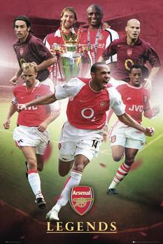 Arsenal - legends - плакат (poster)