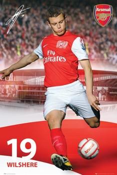 Arsenal - wilshere 11/12 - плакат (poster)