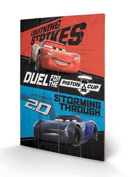Cuadro de madera Cars 3 - Duel For The Piston Cup