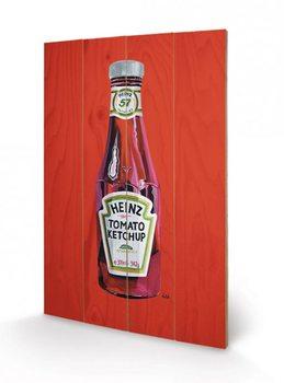 Cuadro de madera Heinz - Tomato Ketchup Bottle