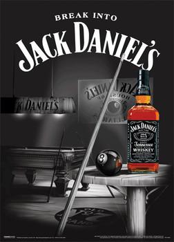 Cuadro de madera JACK DANIEL'S - pool room 3D