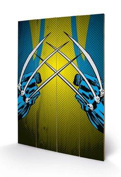 Cuadro de madera Marvel Comics - Wolverine Claws