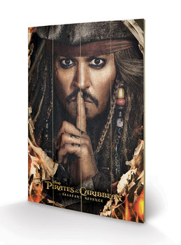 Cuadro de madera Piratas del Caribe - Can You Keep A Secret
