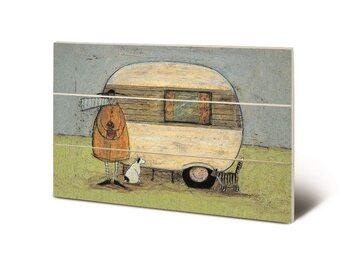 Cuadro de madera Sam Toft - Home from Home