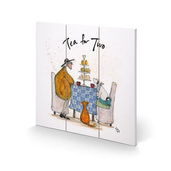 Cuadro de madera  Sam Toft - Tea for Two - Colour