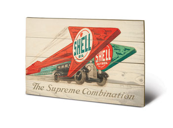 Cuadro de madera  Shell - The Supreme Combination