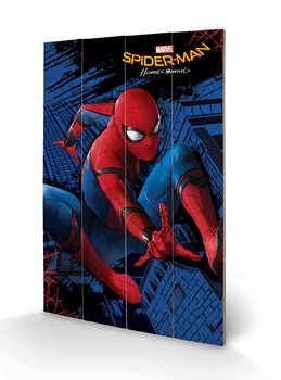 Cuadro de madera Spider-Man Homecoming - City
