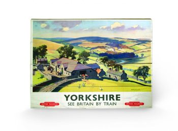 Cuadro de madera  Yorkshire by Train