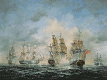 Reproducción de arte 19th Century Naval Engagement in Home Waters