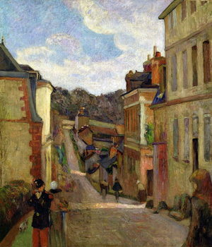 A Suburban Street, 1884 Reproduction de Tableau