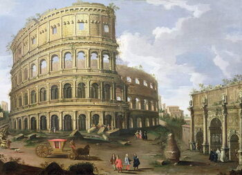 A View of the Colosseum in Rome Kunstdruck