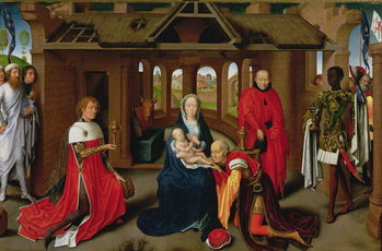 Adoration of the Magi, central panel of the Triptych of the Adoration of the Magi, c.1470-72 Kunstdruk