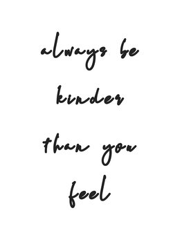 Ilustración Always be kinder