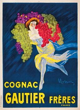 Reproducción de arte An advertising poster for Gautier Freres cognac, 1907