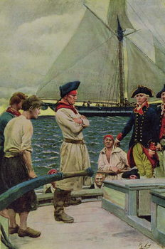 Reproducción de arte An American Privateer Taking a British Prize, illustration from 'Pennsylvania's Defiance of the United States' by Hampton L. Carson, pub. in Harper's Magazine, 1908
