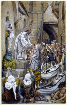 Reproducción de arte And All the City Was Gathered Together at the Door, illustration for 'The Life of Christ', c.1884-96