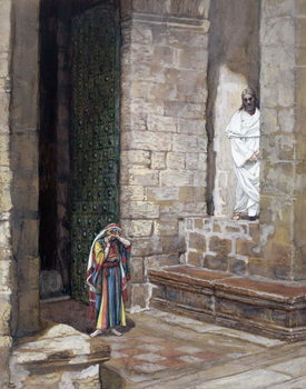 And Jesus Was Left Alone and there was a Woman in the Midst, illustration for 'The Life of Christ', c.1886-94 Reproduction de Tableau