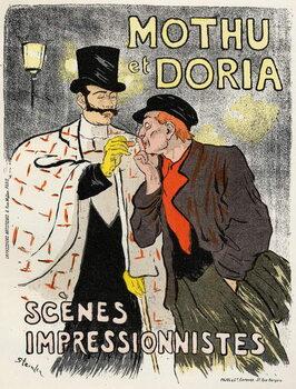 Art. Entertaiment. The singers Mothu and Doria. Kunstdruck