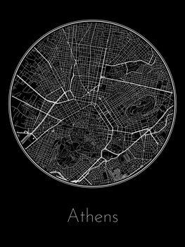 Stadtkarte von Athens
