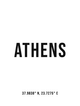 Illustration Athens simple coordinates