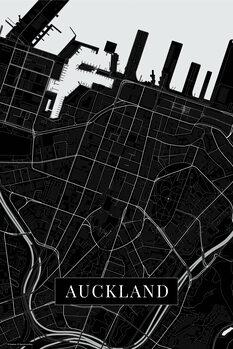 Mapa Auckland black