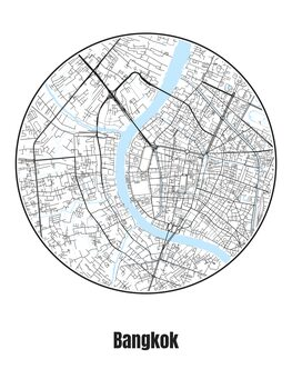 Stadtkarte von Bangkok