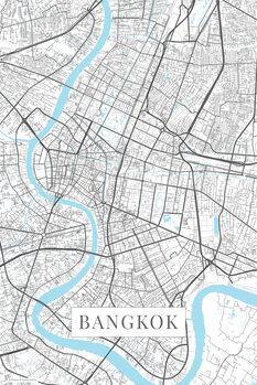 Mapa Bangkok white