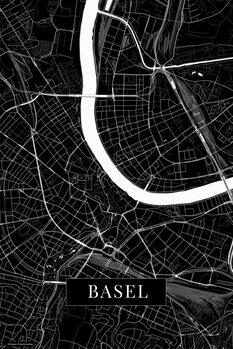 Kaart Basel black
