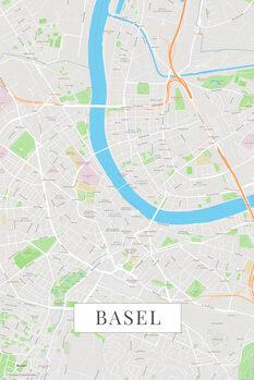 Stadtkarte Basel color