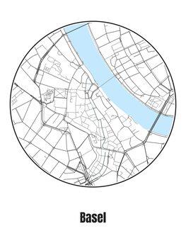 Kaart van Basel