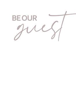 iIlustratie Be our guest
