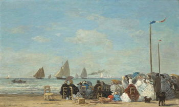 Reproducción de arte Beach Scene at Trouville, 1863