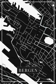 Mapa de Bergen black