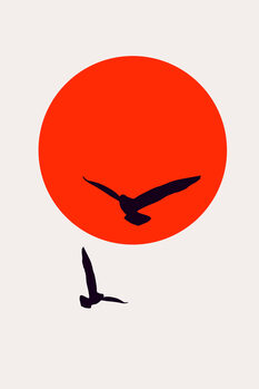 iIlustratie Birds In The Sky