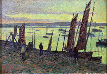 Boats at Camaret, 1893 Reproduction de Tableau
