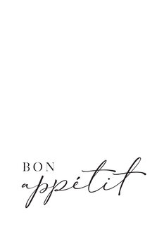 Illustration Bon appetit typography art