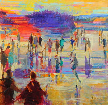 Reproducción de arte Bonspiel, Lake of Menteith