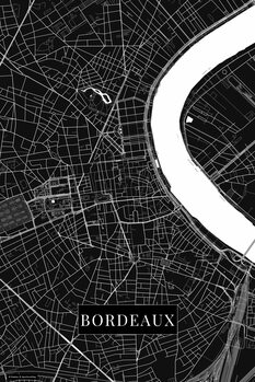 Mapa de Bordeaux black