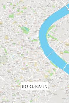Mapa de Bordeaux color